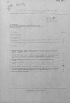 Uzupełnienie do Informacji o realizacji ważniejszych zadań społeczno - gospodarczych w woj. miejskim krakowskim, czerwiec 1979 r.