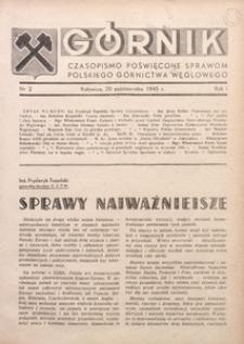 Górnik, 1945, R. 1, nr 2