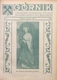 Górnik, 1945, R. 1, nr 4
