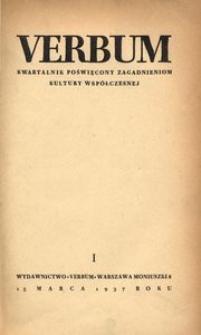 Verbum, 1937, z. 1