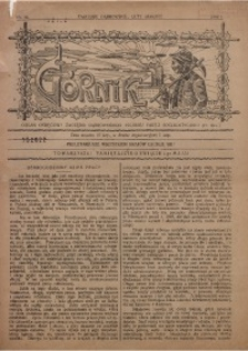 Górnik. Organ Okręgowy Zagłębia Dąbrowskiego PPS, 1908, nr 46