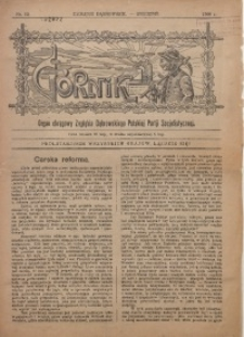 Górnik. Organ Okręgowy Zagłębia Dąbrowskiego PPS, 1909, nr 52