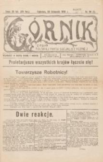 Górnik. Organ Polskiej Partji Socjalistycznej, 1918, nr 59