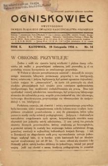 Ogniskowiec, 1934, R. 10, nr 14