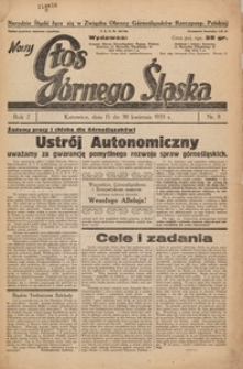 Nowy Głos Górnego Śląska, 1933, R. 2, nr 8