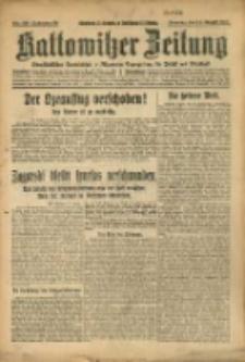 Kattowitzer Zeitung, 1927, Jg. 59, nr185