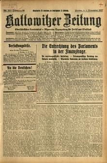 Kattowitzer Zeitung, 1927, Jg. 59, nr 253