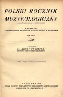 Polski Rocznik Muzykologiczny, 1936, t. 2