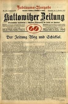 Kattowitzer Zeitung, 1927, Jg. 59, nr 226. - Jubiläums-Ausgabe