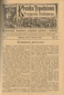 Kronika Tygodniowa do Przyjaciela Rodzinnego, 1896, R. 2, nr 5