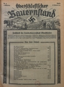 Oberschlesischer Bauernstand, 1934, Jg. 2, Nr. 4