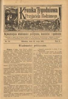Kronika Tygodniowa do Przyjaciela Rodzinnego, 1896, R. 2, nr 22