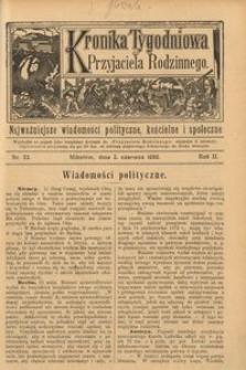 Kronika Tygodniowa do Przyjaciela Rodzinnego, 1896, R. 2, nr 23