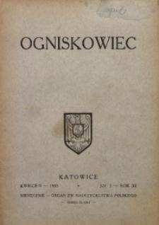 Ogniskowiec, 1935, R. 11, nr 3