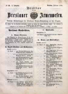 Blätter für das Breslauer Armwesen, Jg. 1, 1896, No 10