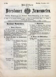 Blätter für das Breslauer Armwesen, [Jg. 1], 1897, No 31