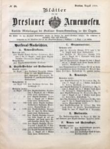 Blätter für das Breslauer Armwesen, [Jg. 1], 1899, No 48