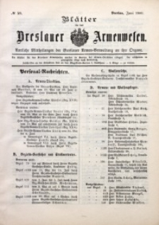 Blätter für das Breslauer Armwesen, [Jg. 2], 1900, No. 59