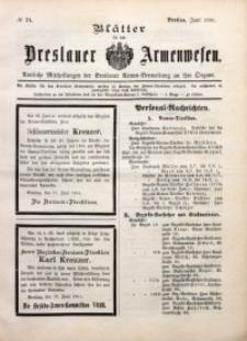 Blätter für das Breslauer Armwesen, [Jg. 2], 1901, No. 71