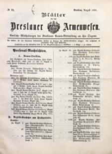 Blätter für das Breslauer Armwesen, [Jg. 2], 1901, No. 72
