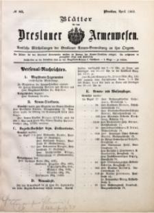 Blätter für das Breslauer Armwesen, [Jg. 2], 1902, No. 83