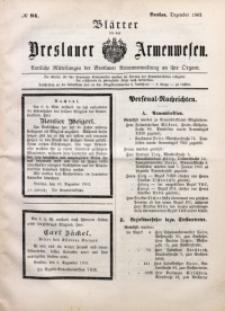 Blätter für das Breslauer Armwesen, [Jg. 2], 1902, No. 94