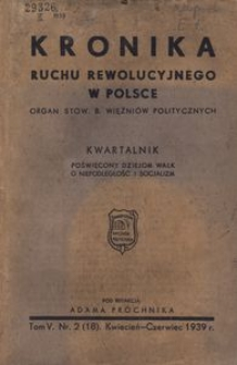 Kronika Ruchu Rewolucyjnego w Polsce, 1939, R.5, nr 2