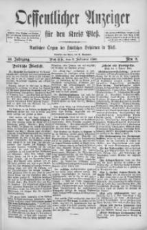 Oeffentlicher Anzeiger für den Kreis Pleß, 1892, Jg. 40, Nro. 9