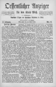 Oeffentlicher Anzeiger für den Kreis Pleß, 1892, Jg. 40, Nro. 32