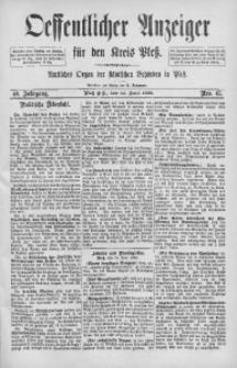 Oeffentlicher Anzeiger für den Kreis Pleß, 1892, Jg. 40, Nro. 47