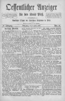 Oeffentlicher Anzeiger für den Kreis Pleß, 1892, Jg. 40, Nro. 54