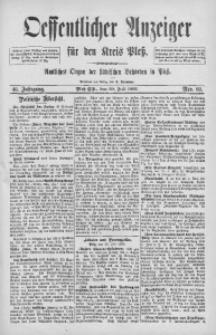 Oeffentlicher Anzeiger für den Kreis Pleß, 1892, Jg. 40, Nro. 60