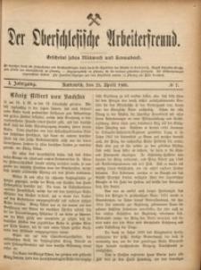 Der Oberschlesische Arbeiterfreund, 1900/1901, Jg. 1, No 7