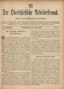 Der Oberschlesische Arbeiterfreund, 1900/1901, Jg. 1, No 13