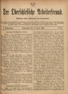 Der Oberschlesische Arbeiterfreund, 1900/1901, Jg. 1, No 21