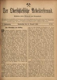 Der Oberschlesische Arbeiterfreund, 1900/1901, Jg. 1, No 42