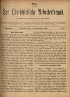 Der Oberschlesische Arbeiterfreund, 1900/1901, Jg. 1, No 49