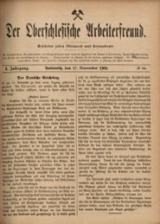 Der Oberschlesische Arbeiterfreund, 1900/1901, Jg. 1, No 66