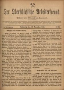 Der Oberschlesische Arbeiterfreund, 1900/1901, Jg. 1, No 73
