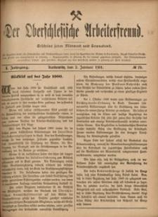 Der Oberschlesische Arbeiterfreund, 1900/1901, Jg. 1, No 78