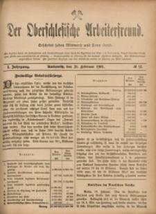Der Oberschlesische Arbeiterfreund, 1900/1901, Jg. 1, No 92