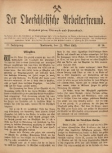 Der Oberschlesische Arbeiterfreund, 1901/1902, Jg. 2, No 16