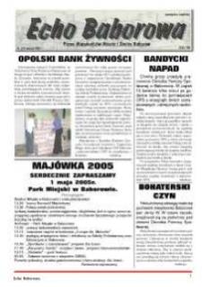 Echo Baborowa : pismo mieszkańców miasta i gminy Baborów 2005, nr 6.