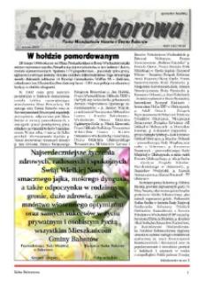 Echo Baborowa : pismo mieszkańców miasta i gminy Baborów 2012, nr 3.