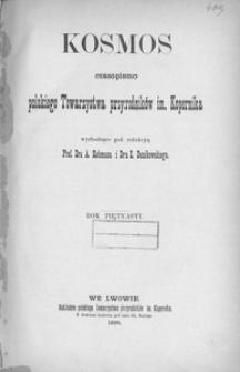 Kosmos, 1890, R. 15