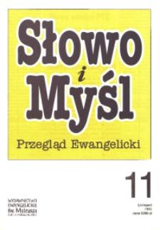 Słowo i Myśl. Przegląd Ewangelicki, 1995, nr 11
