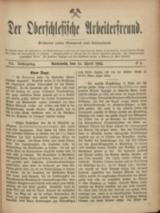 Der Oberschlesische Arbeiterfreund, 1902/1903, Jg. 3, No 5