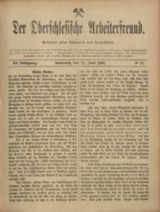 Der Oberschlesische Arbeiterfreund, 1902/1903, Jg. 3, No 21