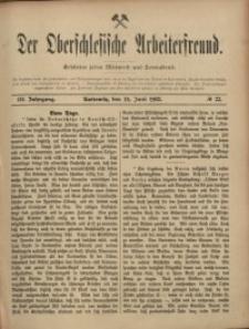 Der Oberschlesische Arbeiterfreund, 1902/1903, Jg. 3, No 22