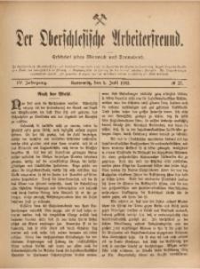 Der Oberschlesische Arbeiterfreund, 1903/1904, Jg. 4, No 27